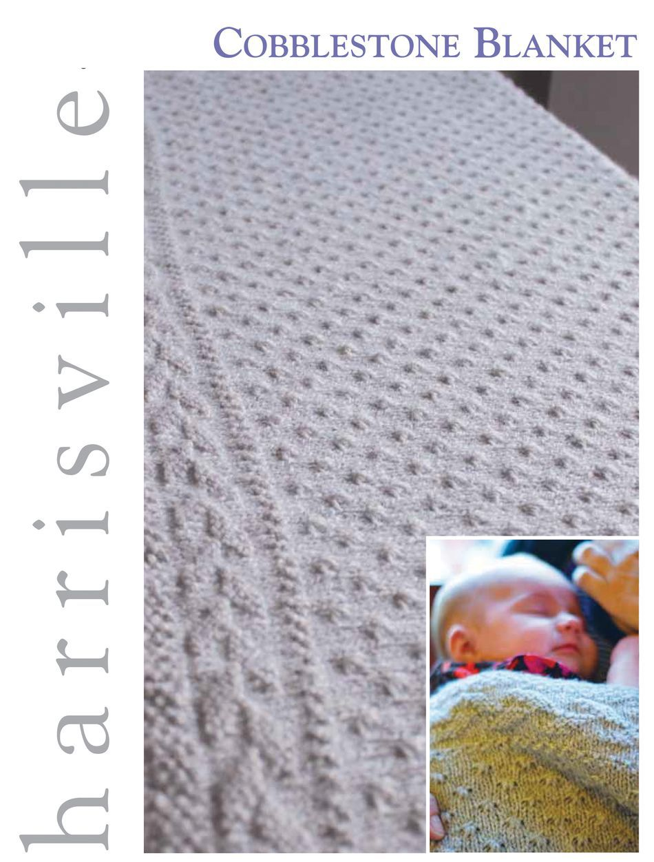 Knitting Patterns Cobblestone Blanket Harrisville Designs