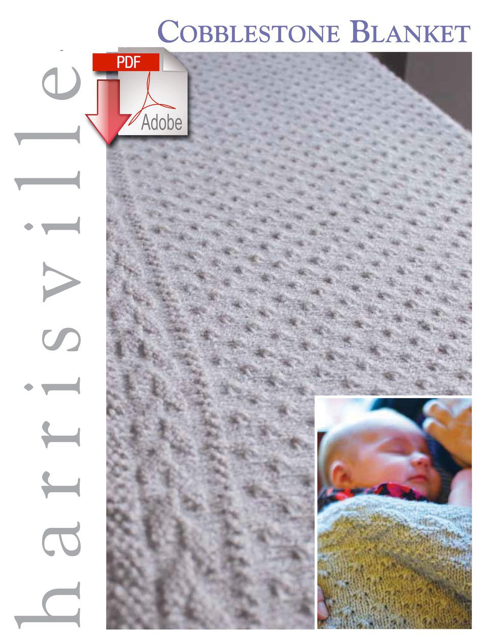 Knitting Patterns Cobblestone Blanket  Pattern download Harrisville Designs