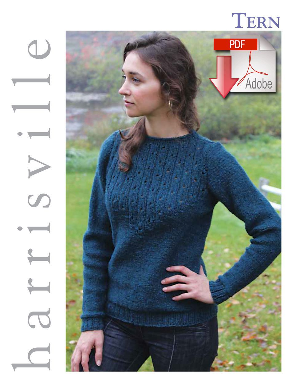 Knitting Patterns Tern Pullover  Pattern download Harrisville Designs
