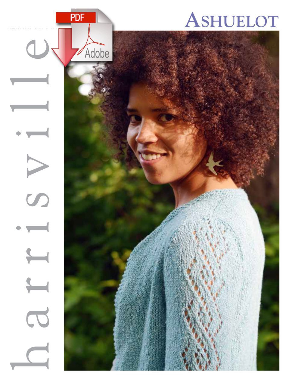 Knitting Patterns Ashuelot Cardigan  Pattern download Harrisville Designs