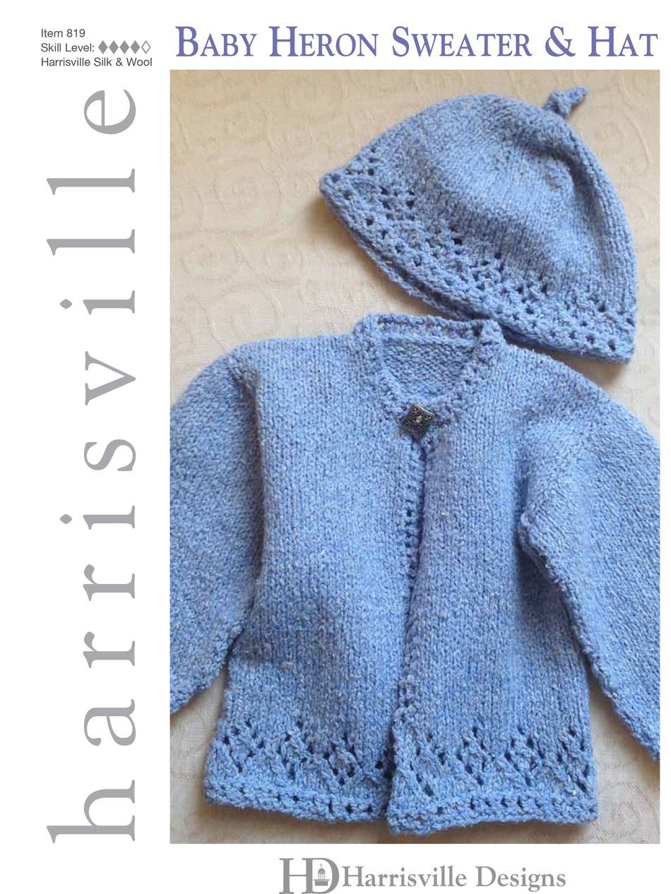 Baby Heron Sweater and Hat Harrisville Designs, Knitting Pattern ...