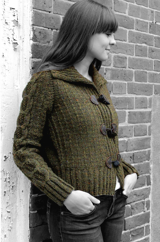 Knitting Jacket Designs : Henniker toggle jacket watershed pattern harrisville