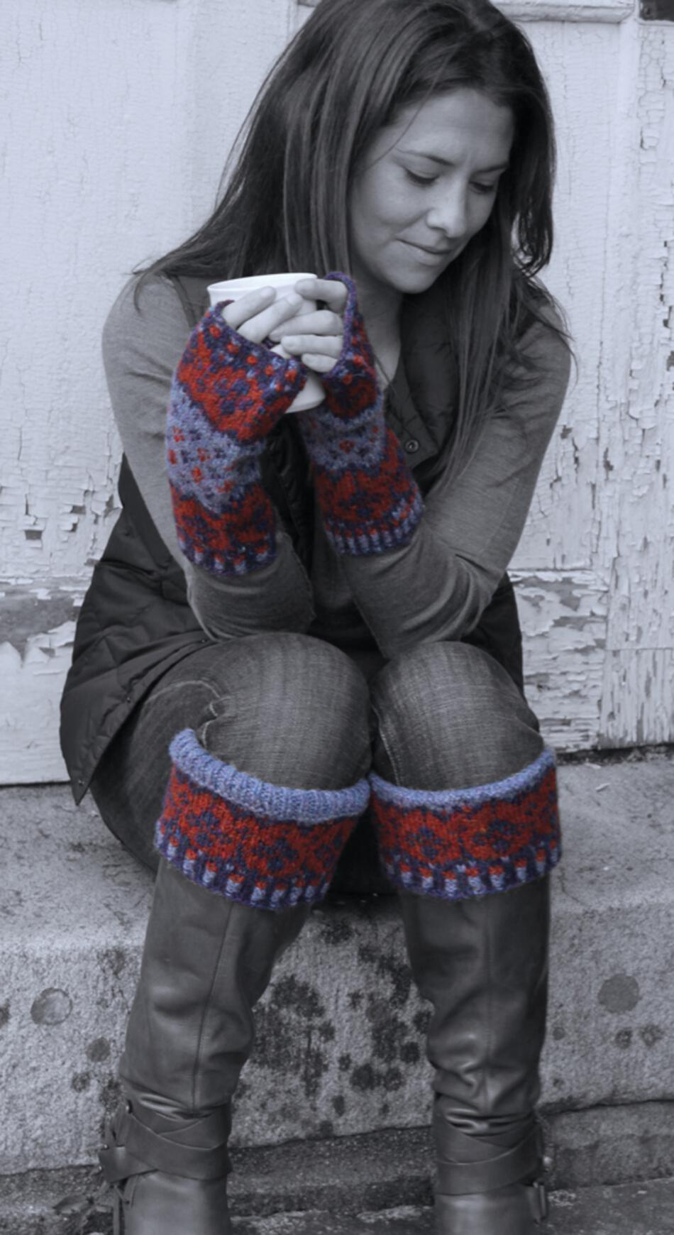 Knitting Patterns Ambit Mitts and Boot Toppers  Watershed Pattern Harrisville Designs