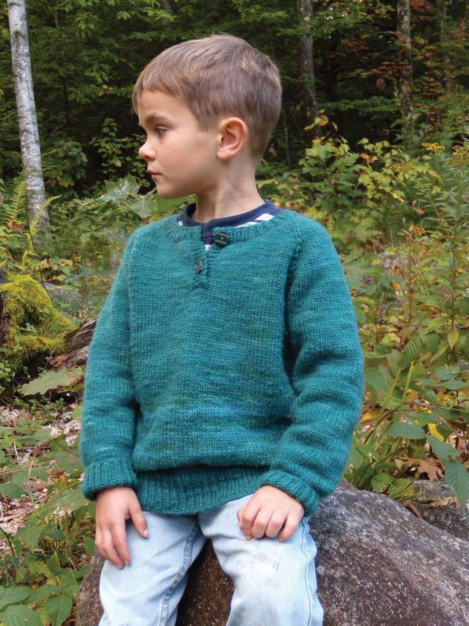 Children's Henley Top Down Sweater by Knitting Pure and ...