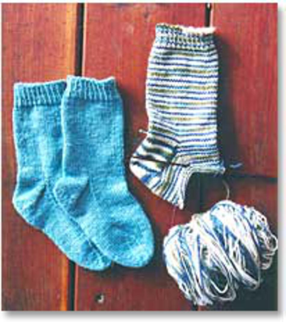 Easy Childrens Lightweight Socks By Knitting Pure And Simple