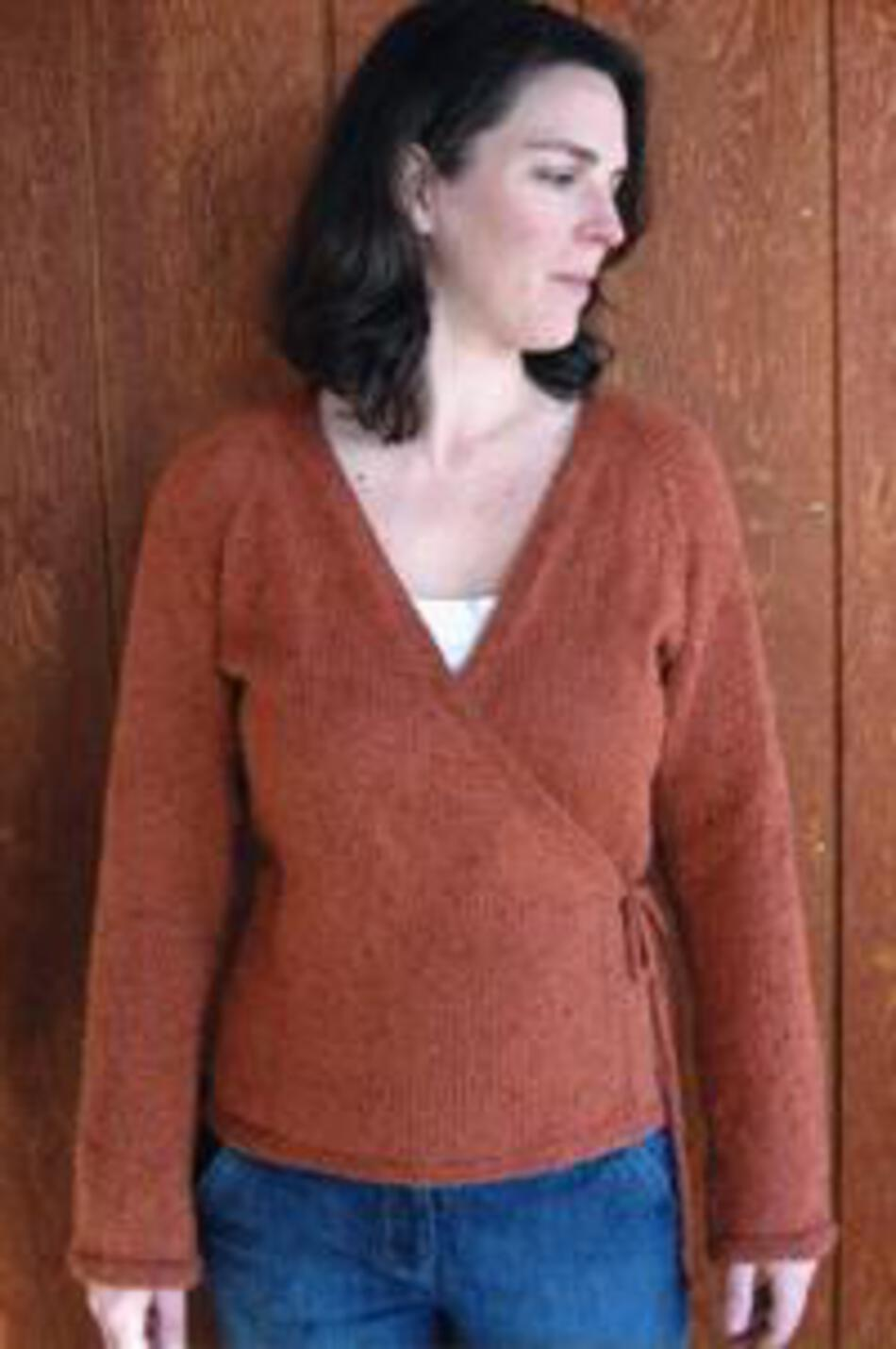 ea57cbe68 Neckdown Wrap Cardigan by Knitting Pure and Simple Knitting Pattern