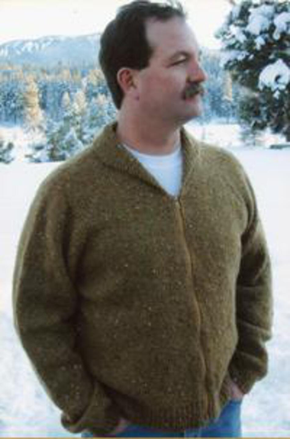 ece82e338 Neckdown Cardigan for Men by Knitting Pure and Simple Knitting Pattern