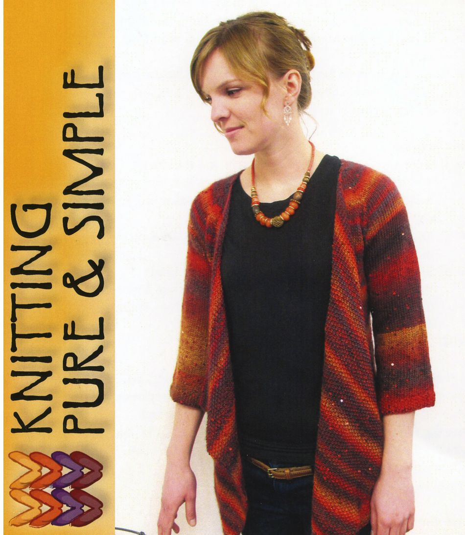 Knitting Patterns Top Down Drape Front Cardi by Pure and Simple