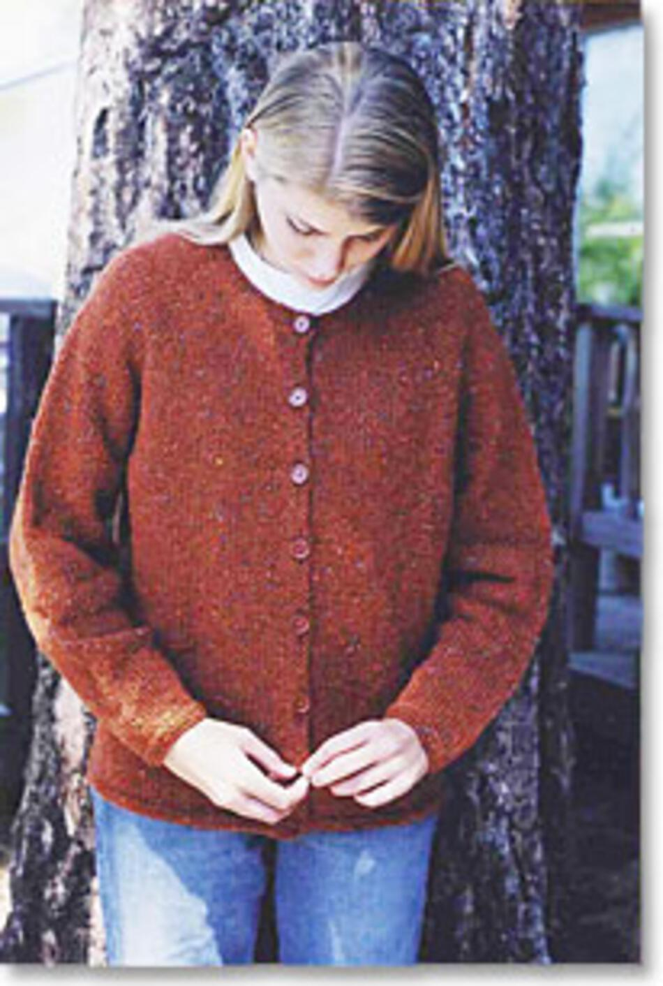 Neck Down Cardigan by Knitting Pure and Simple, Knitting Pattern - Halcyon Yarn