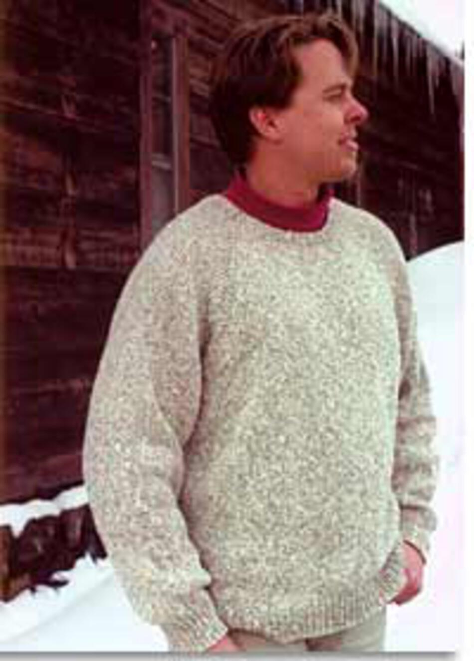 Pure And Simple Knitting Patterns : Neck Down Pullover by Knitting Pure and Simple, Knitting Pattern - Halcyon Yarn