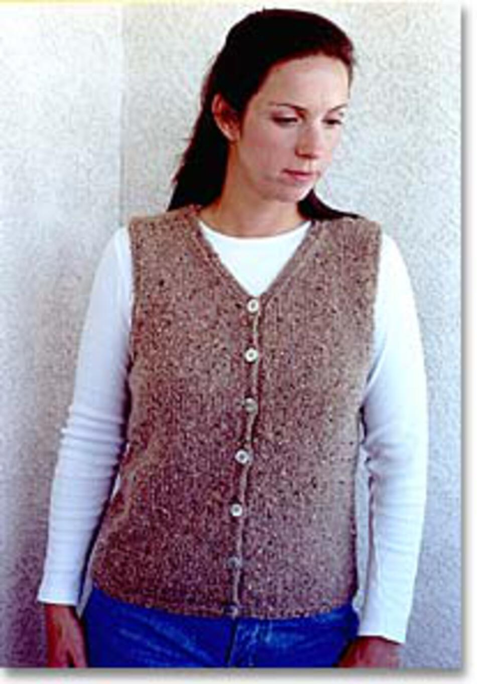 V Neck Vest by Knitting Pure and Simple, Knitting Pattern - Halcyon Yarn