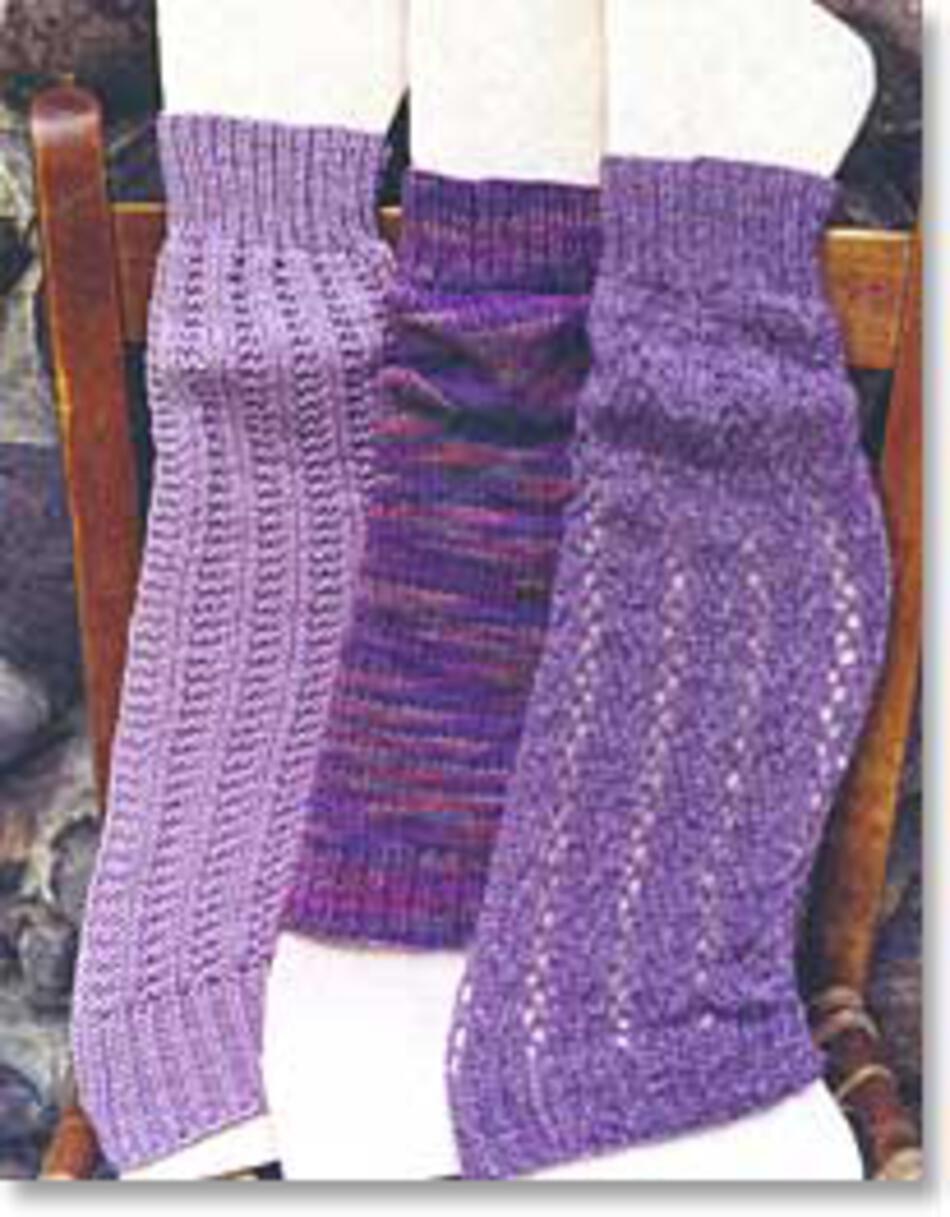 Oat Couture Leg Warmers, Knitting Pattern - Halcyon Yarn