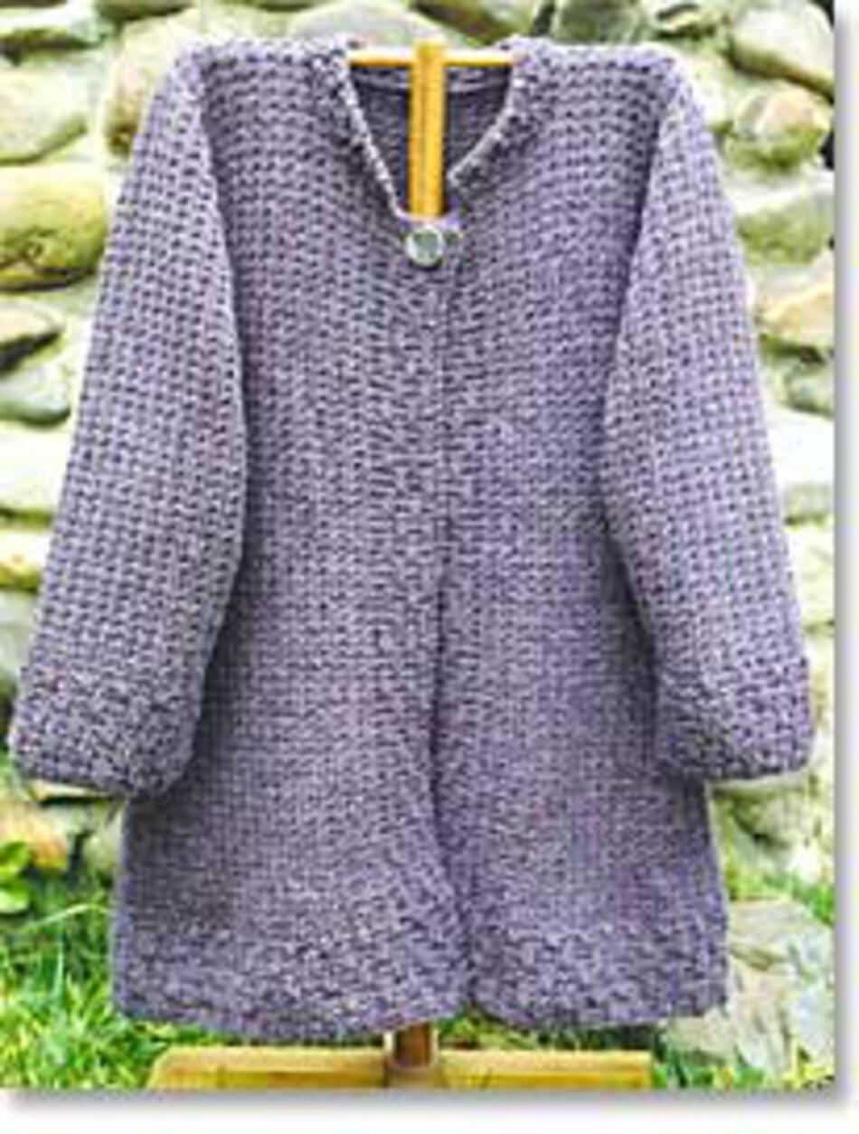 Knitting Pattern For Tortoise Coat : Autumn Coat, Knitting Pattern - Halcyon Yarn