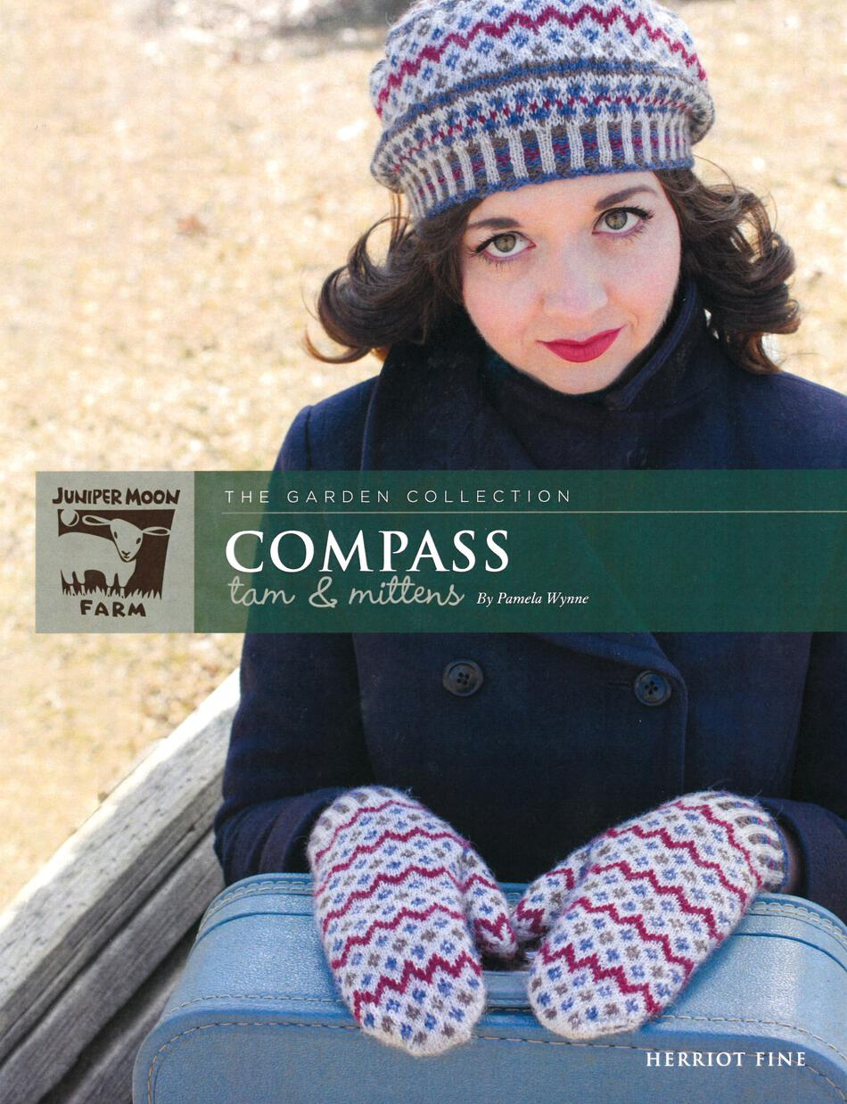 Knitting Patterns Herriot Fine Compass Tam and Mittens