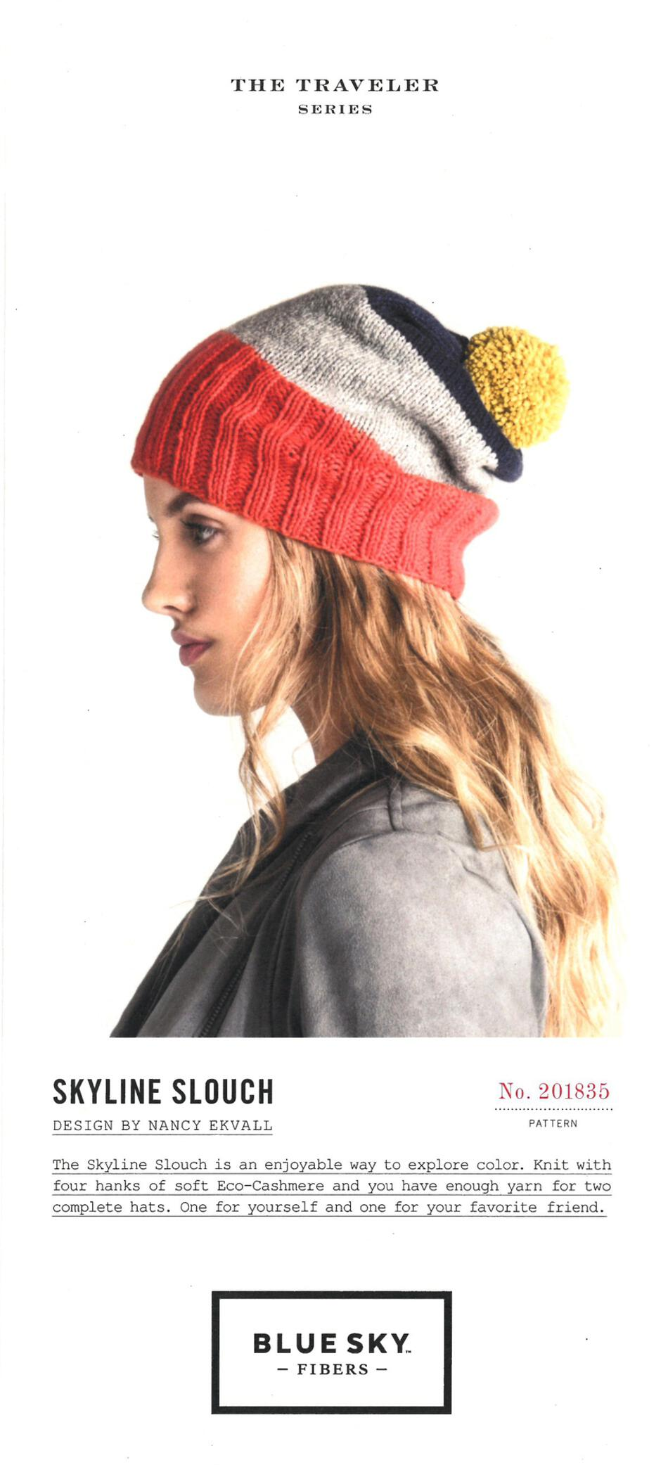 Knitting Patterns Skyline Slouch Hat