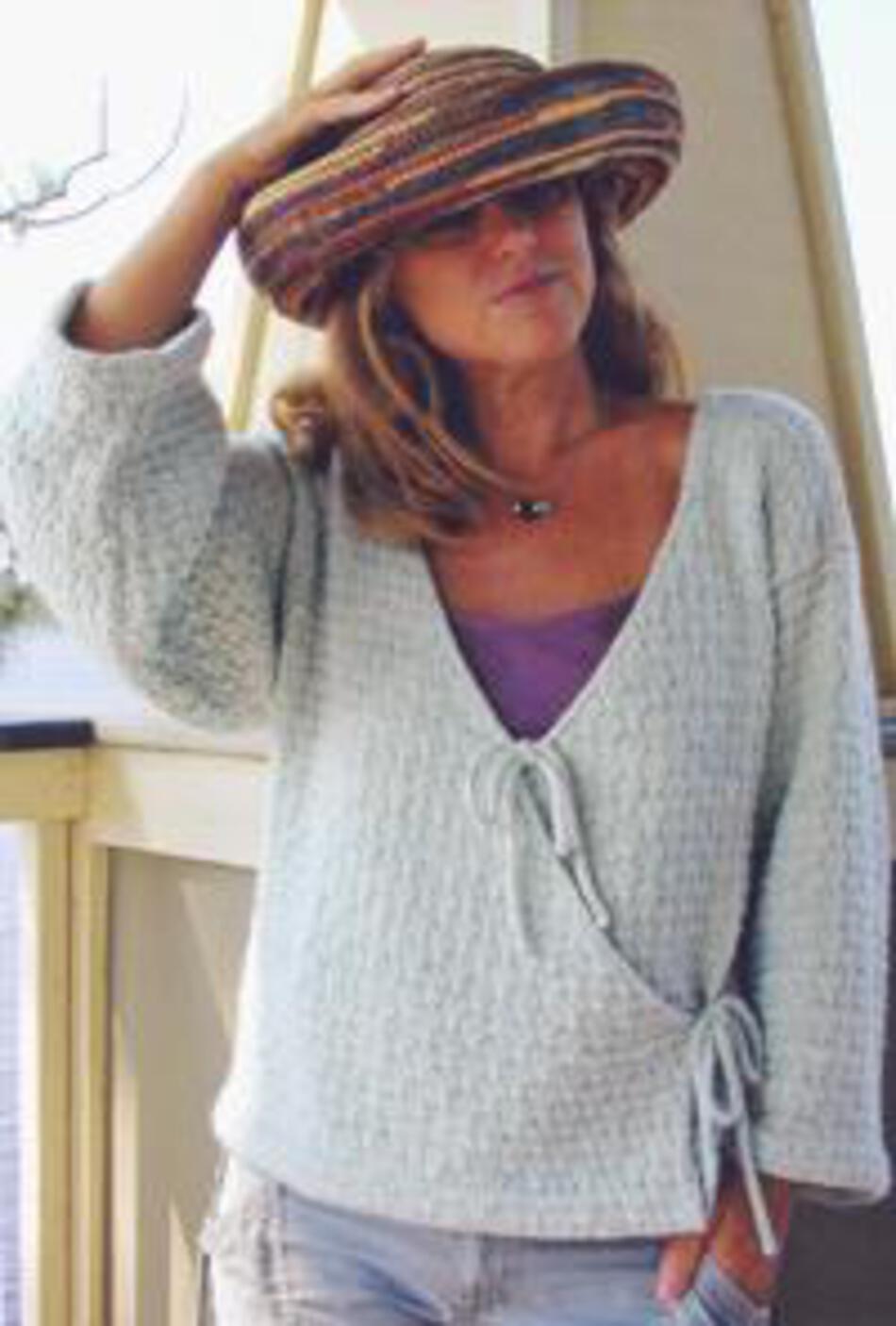 Monterey Wrap Cardigan, Knitting Pattern - Halcyon Yarn