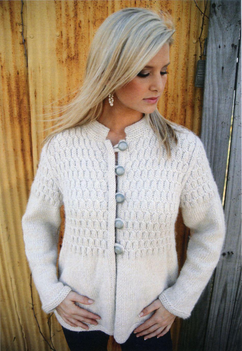 Madison Cardigan, Knitting Pattern - Halcyon Yarn