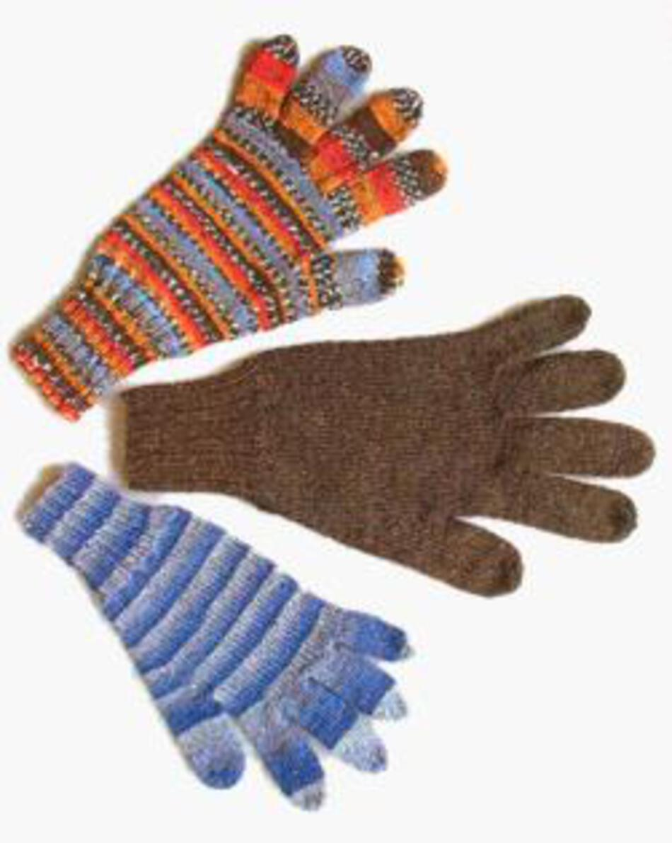 Knit Pattern Gloves Sock Yarn : A Basic Glove, Knitting Pattern - Halcyon Yarn