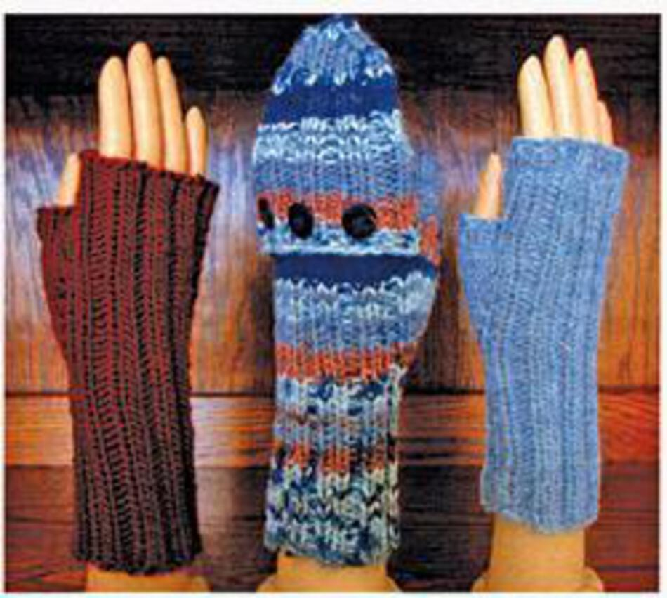 Fingerless Gloves and Mitts 5 sts/1\