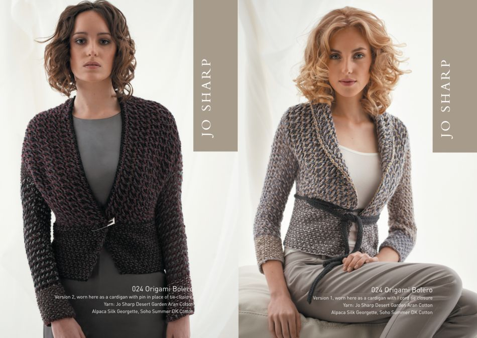 Jo Sharp Origami Bolero Pattern, Knitting Pattern - Halcyon Yarn