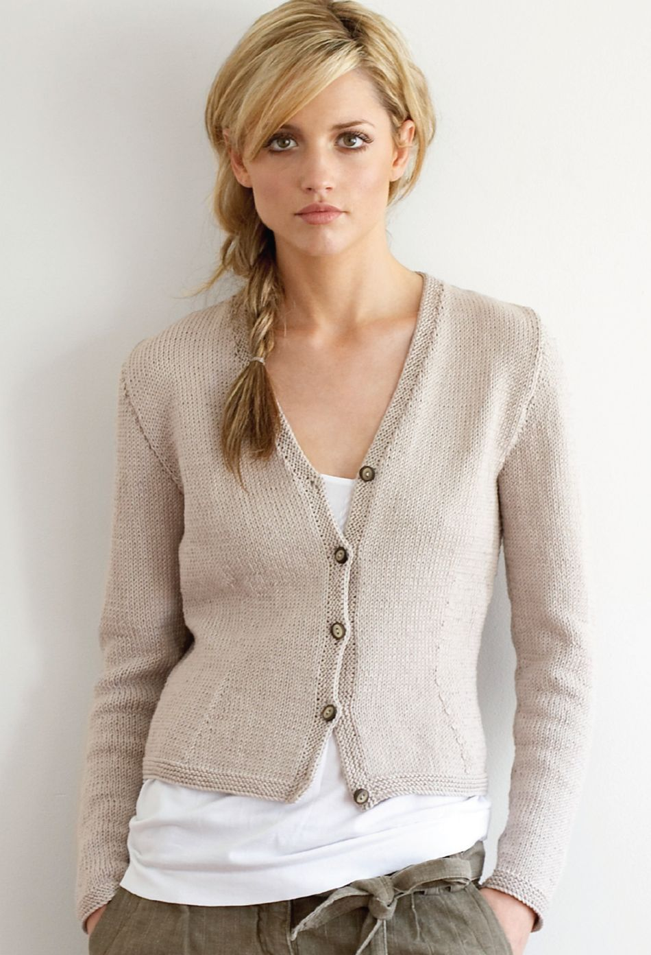 Knitting Pattern Cotton Cardigan : Jo Sharp Fitted Cotton Cardigan Pattern, Knitting Pattern - Halcyon Yarn