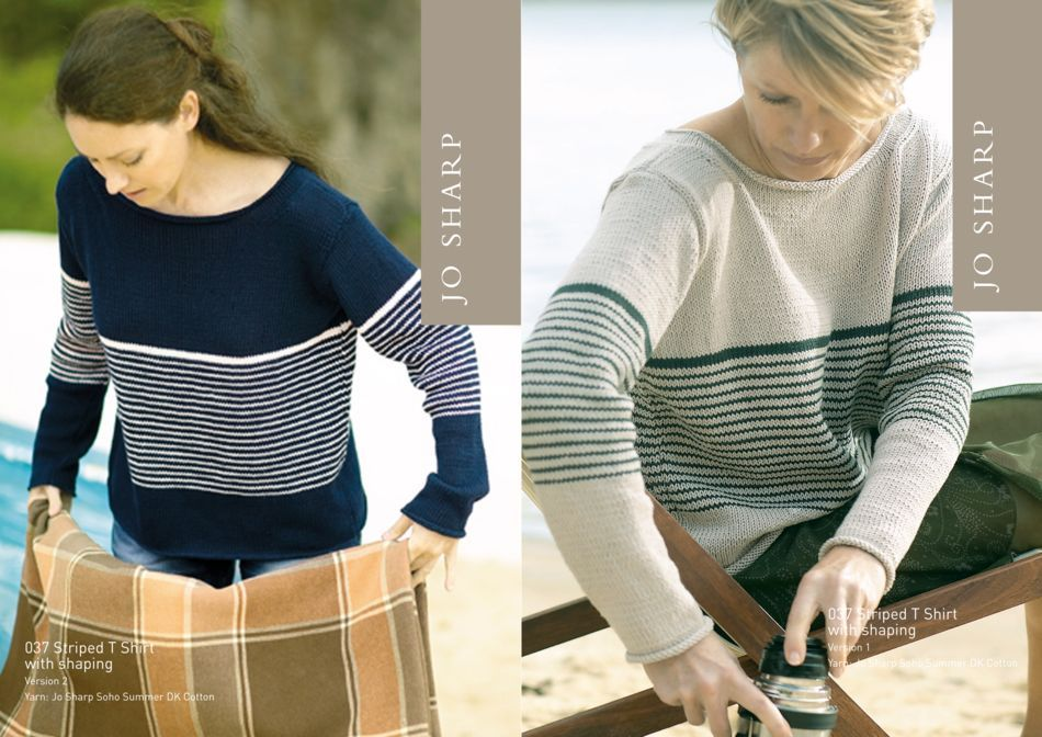 Knitting Patterns Jo Sharp Striped TShirt Pattern