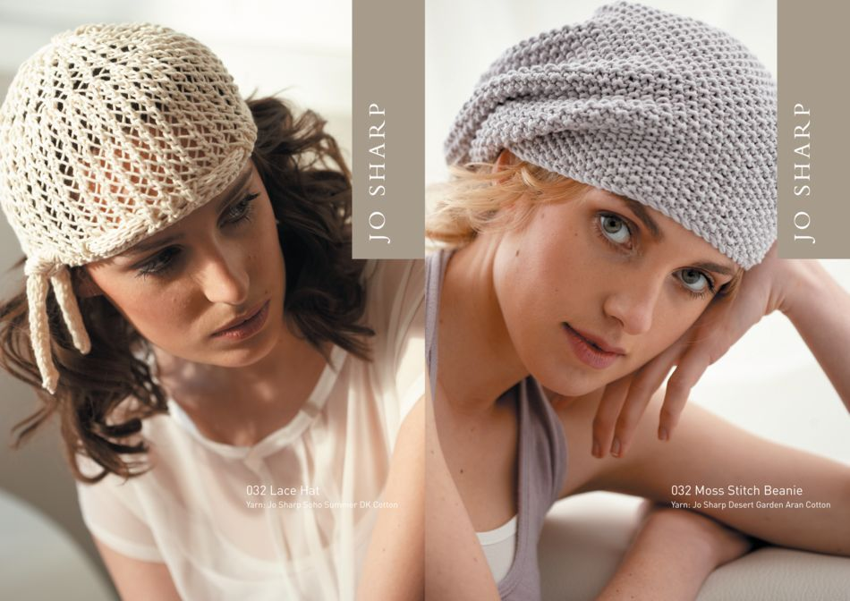 Jo Sharp Moss Stitch Beanie Pattern Knitting Pattern Halcyon Yarn