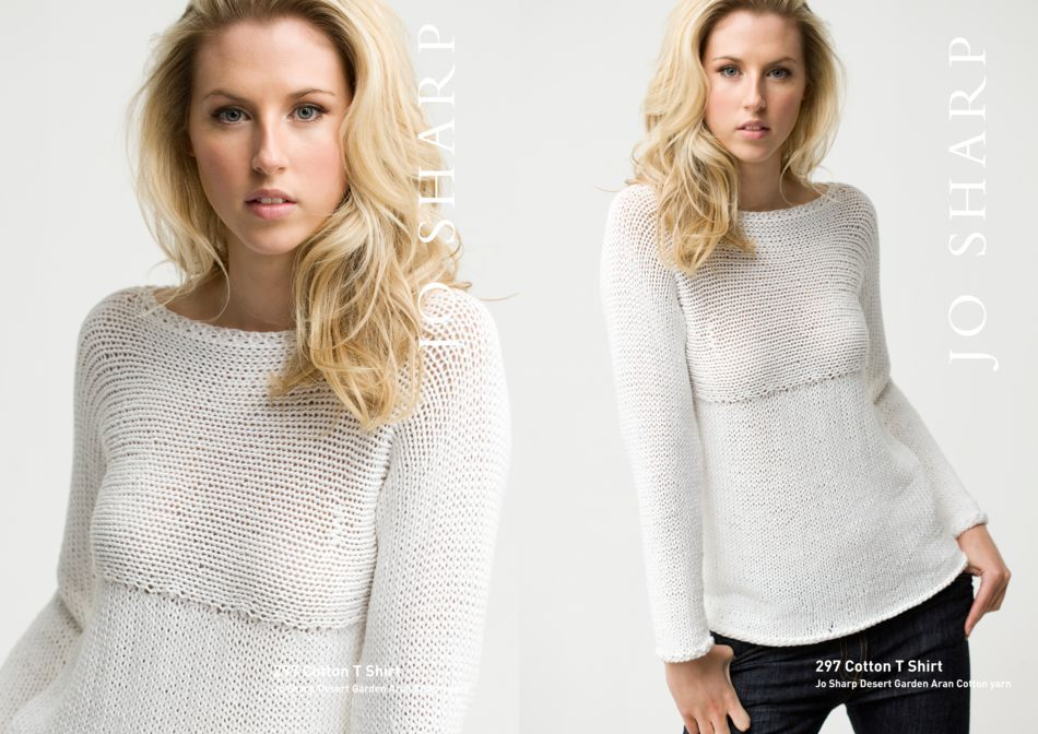Jo Sharp Cotton T Shirt Pattern Knitting Pattern Halcyon Yarn