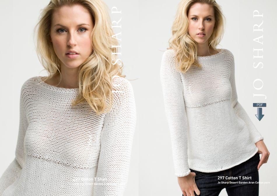 Jo Sharp Cotton T Shirt Pattern Pattern Download Knitting Pattern