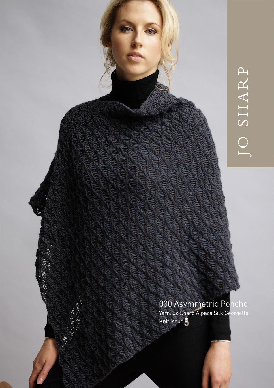 Jo Sharp Asymmetric Poncho Pattern Knitting Pattern Halcyon Yarn