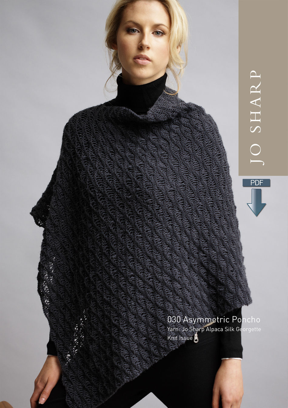 Knitting Patterns Jo Sharp Asymmetric Poncho Pattern  Pattern Download