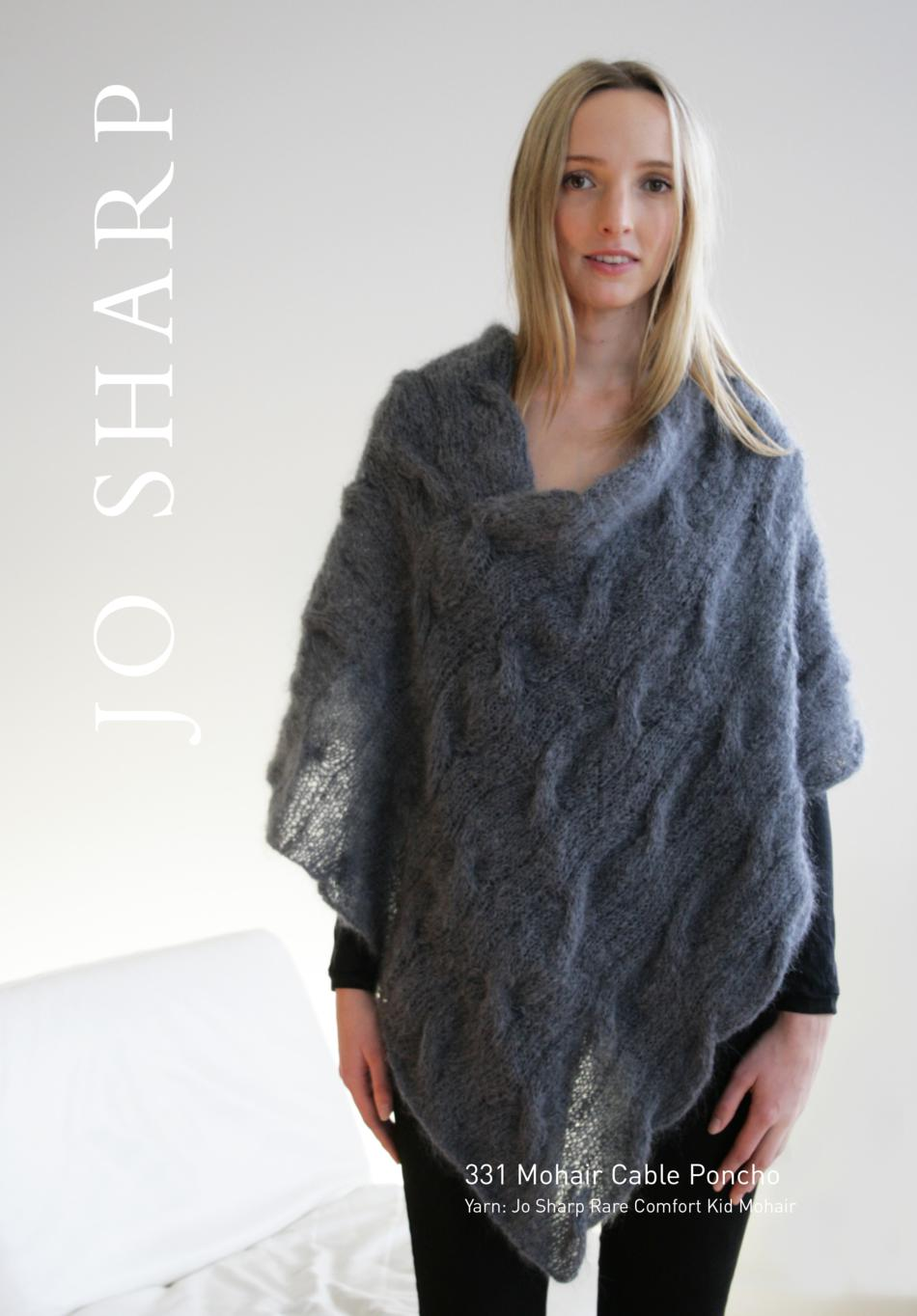 jo sharp mohair cable poncho pattern knitting pattern