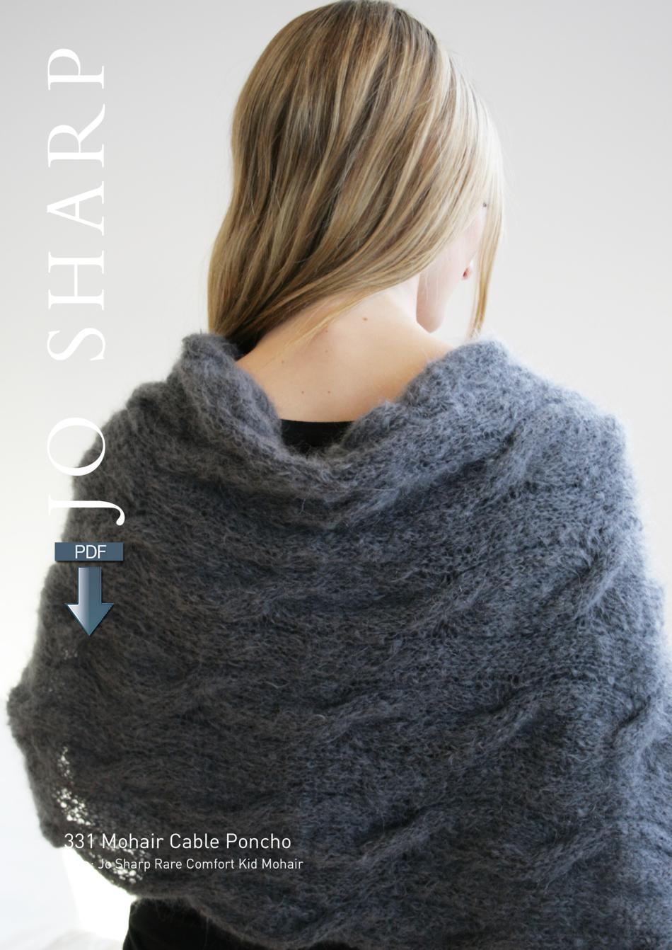 c35ac3674 Jo Sharp Mohair Cable Poncho Pattern - Pattern Download (image A)