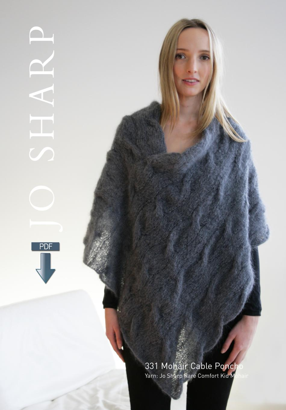 Jo Sharp Mohair Cable Poncho Pattern Pattern Download Knitting