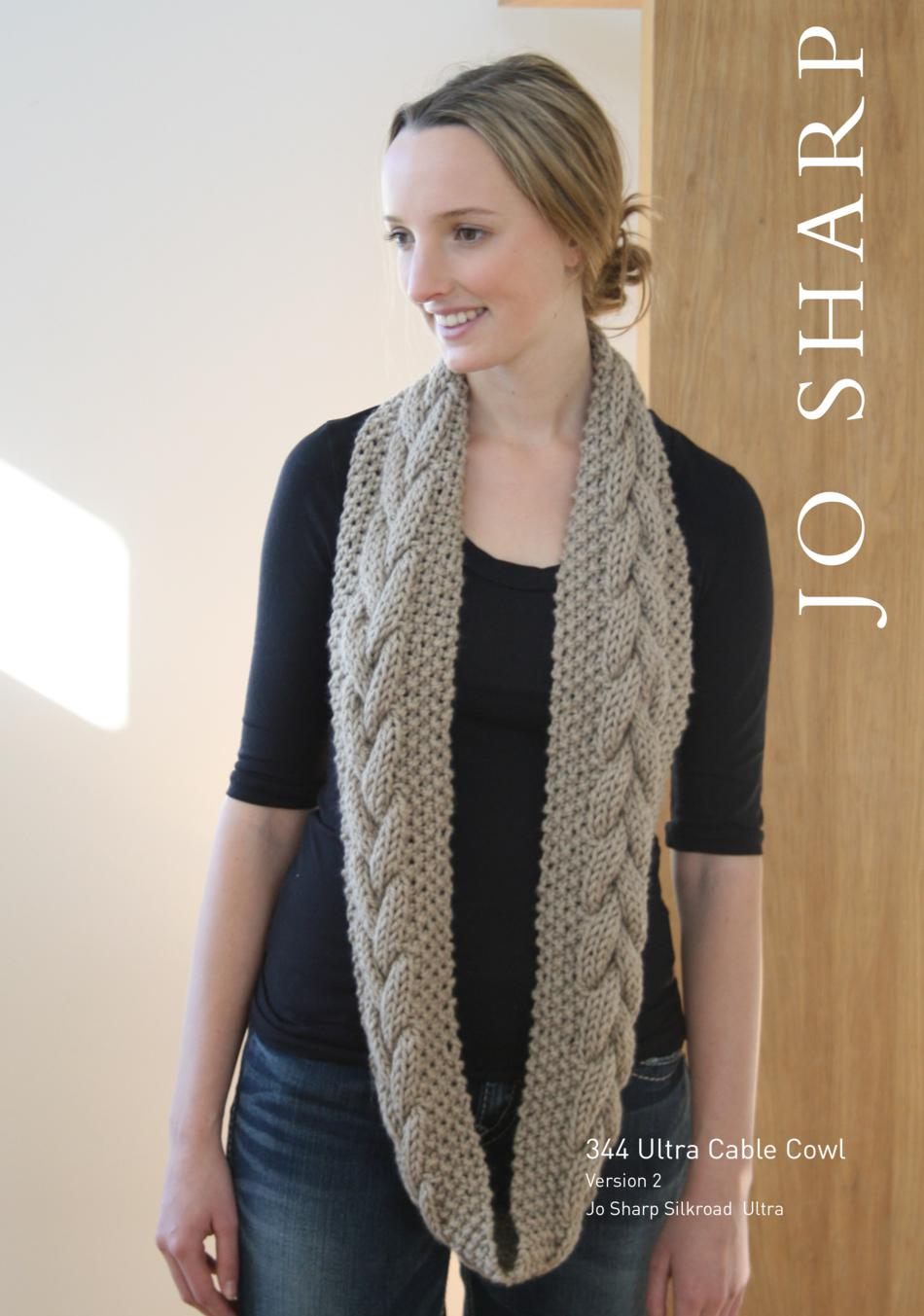 be2238bd9e2be9 ... Jo Sharp Ultra Cable Cowl Pattern (image B) ...