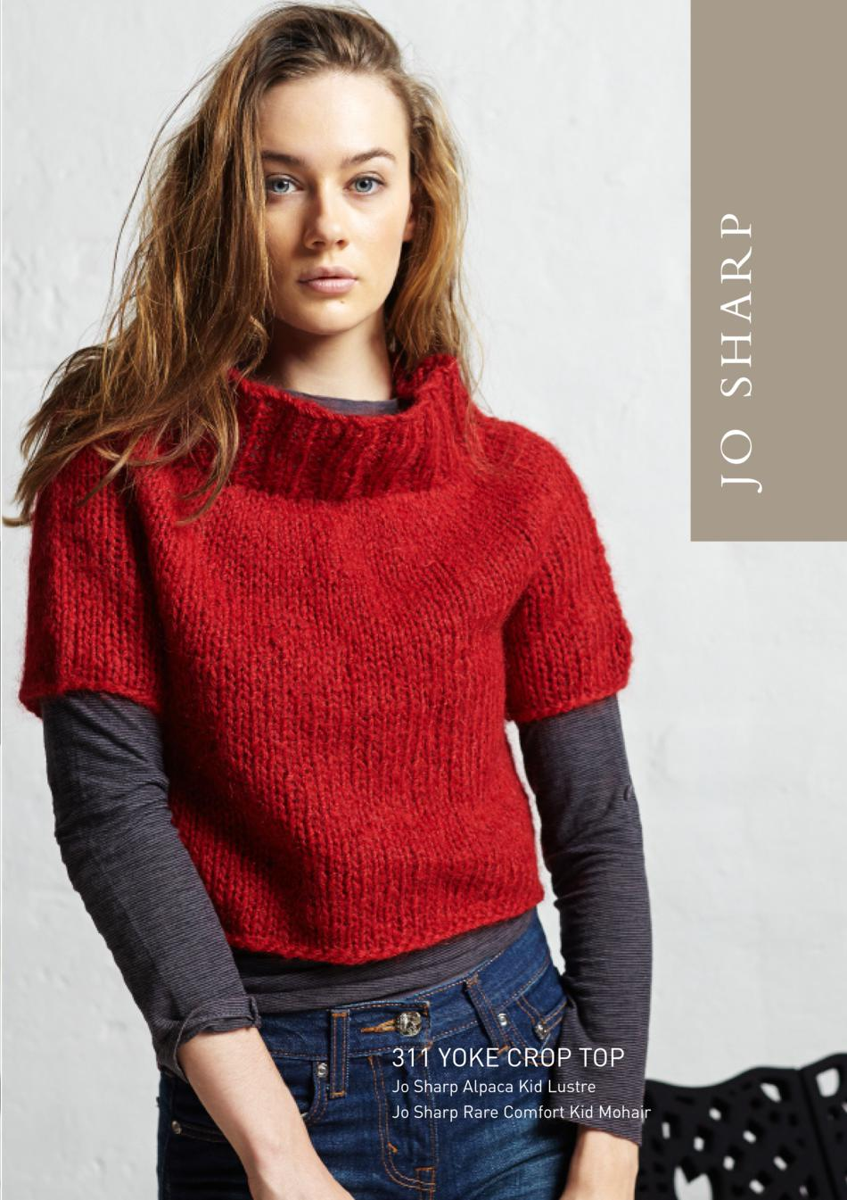 Knitting Patterns Jo Sharp Yoke Crop Top Pattern