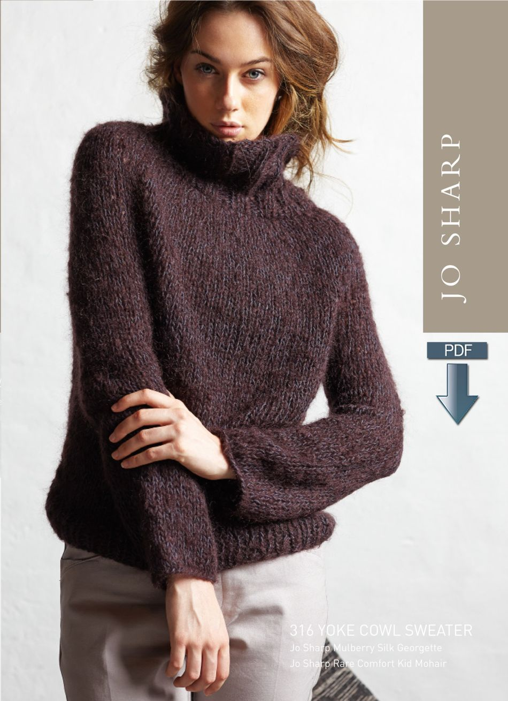 Jo sharp yoke cowl sweater pattern pattern download knitting knitting patterns jo sharp yoke cowl sweater pattern pattern download bankloansurffo Images