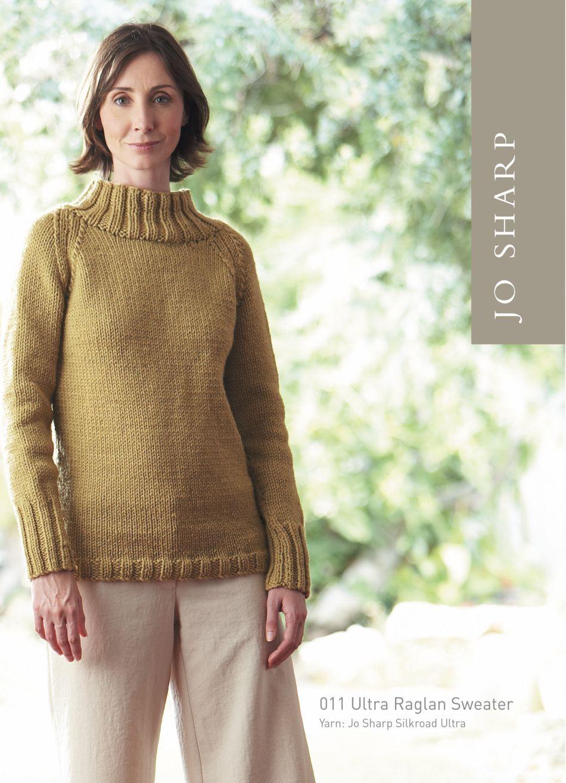 Jo Sharp Ultra Raglan Sweater Pattern, Knitting Pattern - Halcyon Yarn