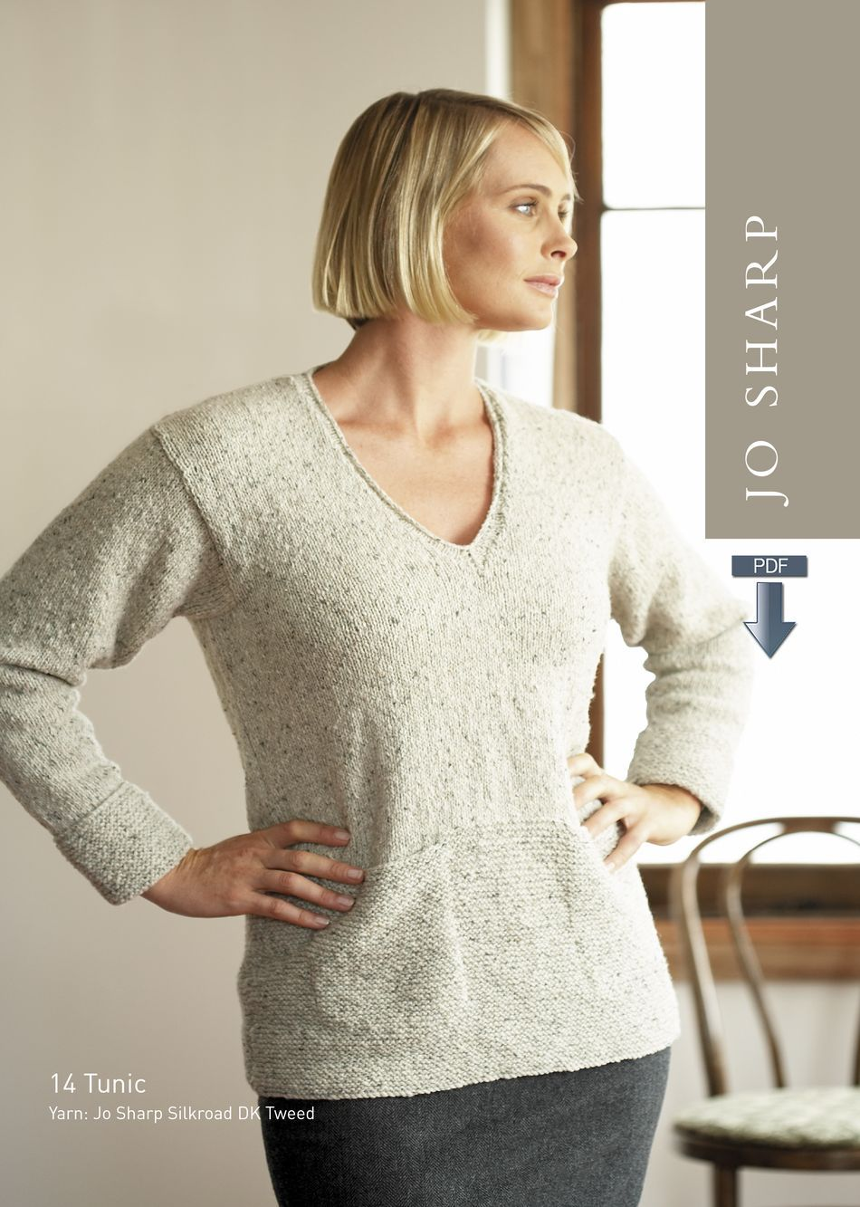 Knitting Patterns Jo Sharp Tunic and Chequer Scarf Pattern  Pattern Download