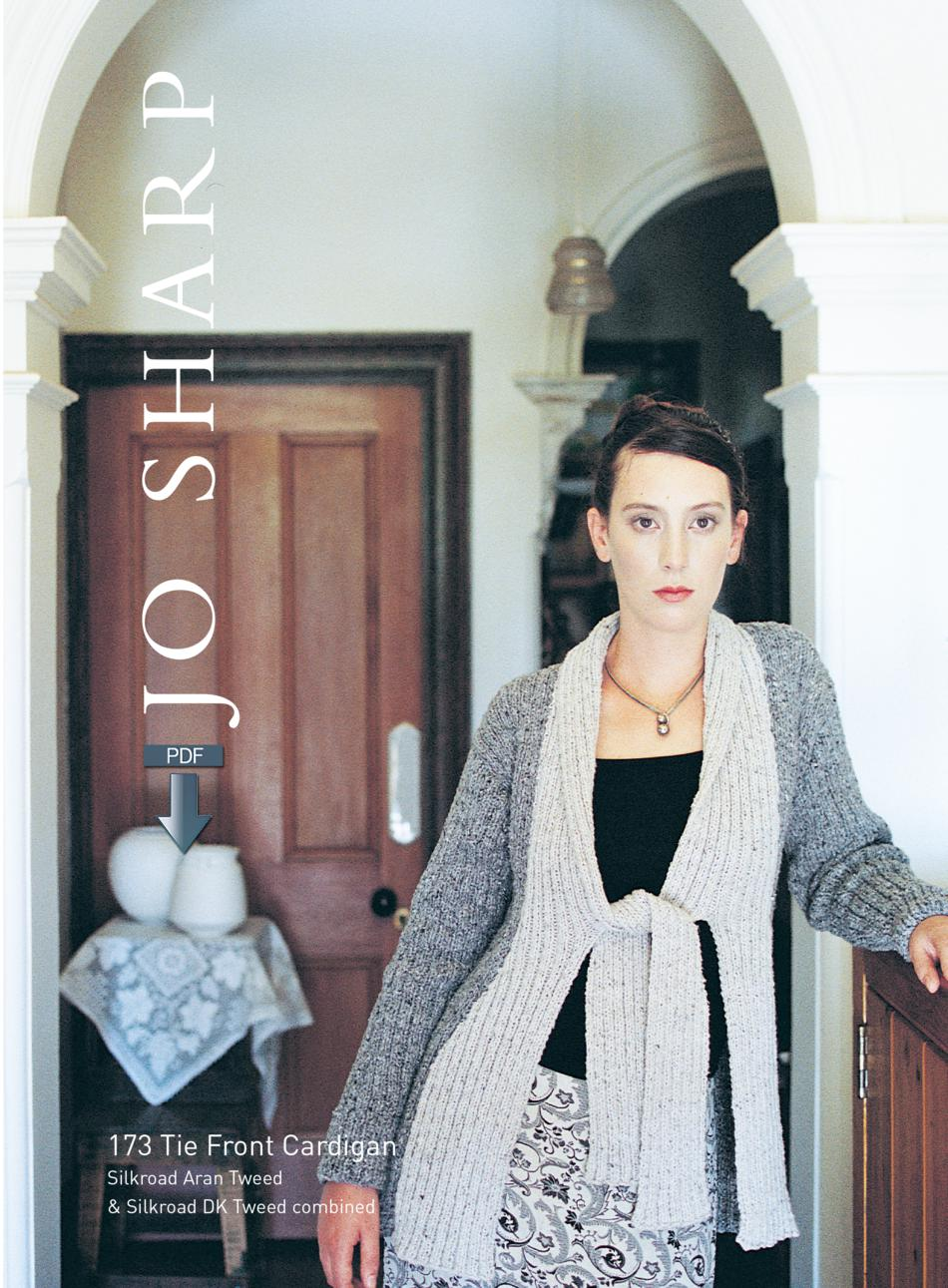 Knitting Patterns Jo SharpTie Front Cardigan Pattern  Pattern Download