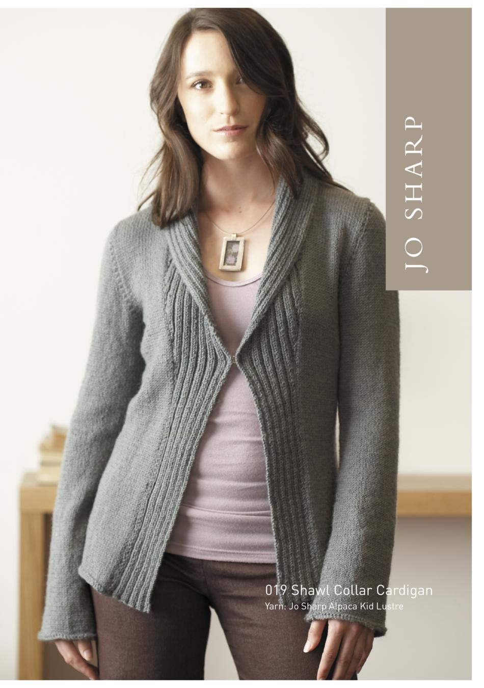 Jo Sharp Shawl Collar Cardigan and Coat Pattern, Knitting Pattern - Halcyon Yarn