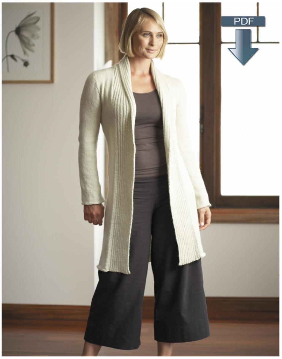 Jo Sharp Shawl Collar Cardigan and Coat Pattern - Pattern Download ...