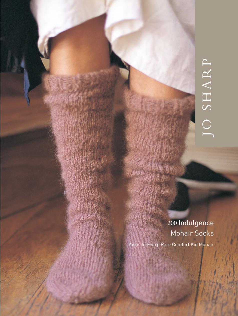 Jo Sharp Indulgence Mohair Sock Pattern, Knitting Pattern - Halcyon Yarn