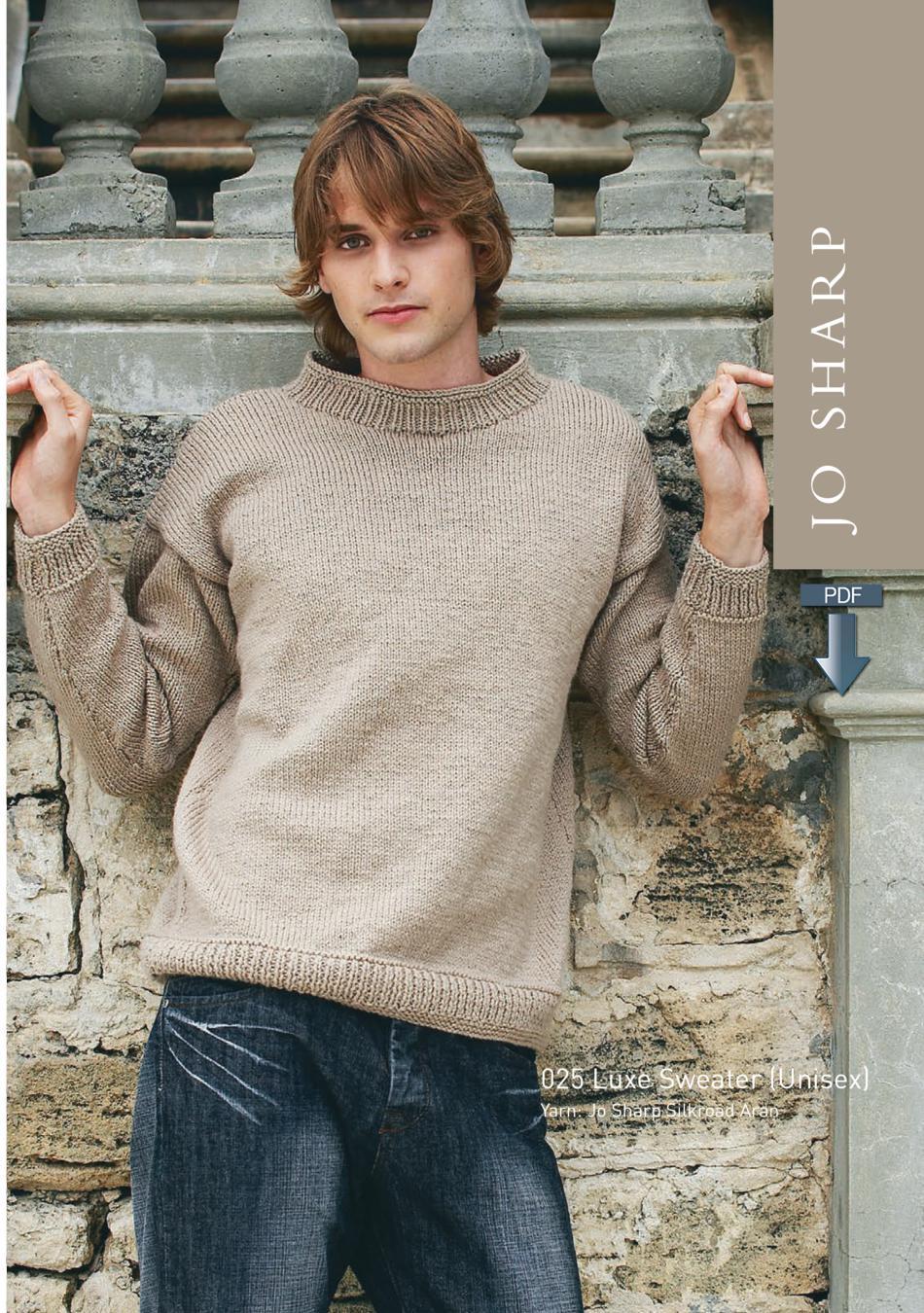 Jo Sharp Luxe Sweater - Pattern Download, Knitting Pattern - Halcyon Yarn
