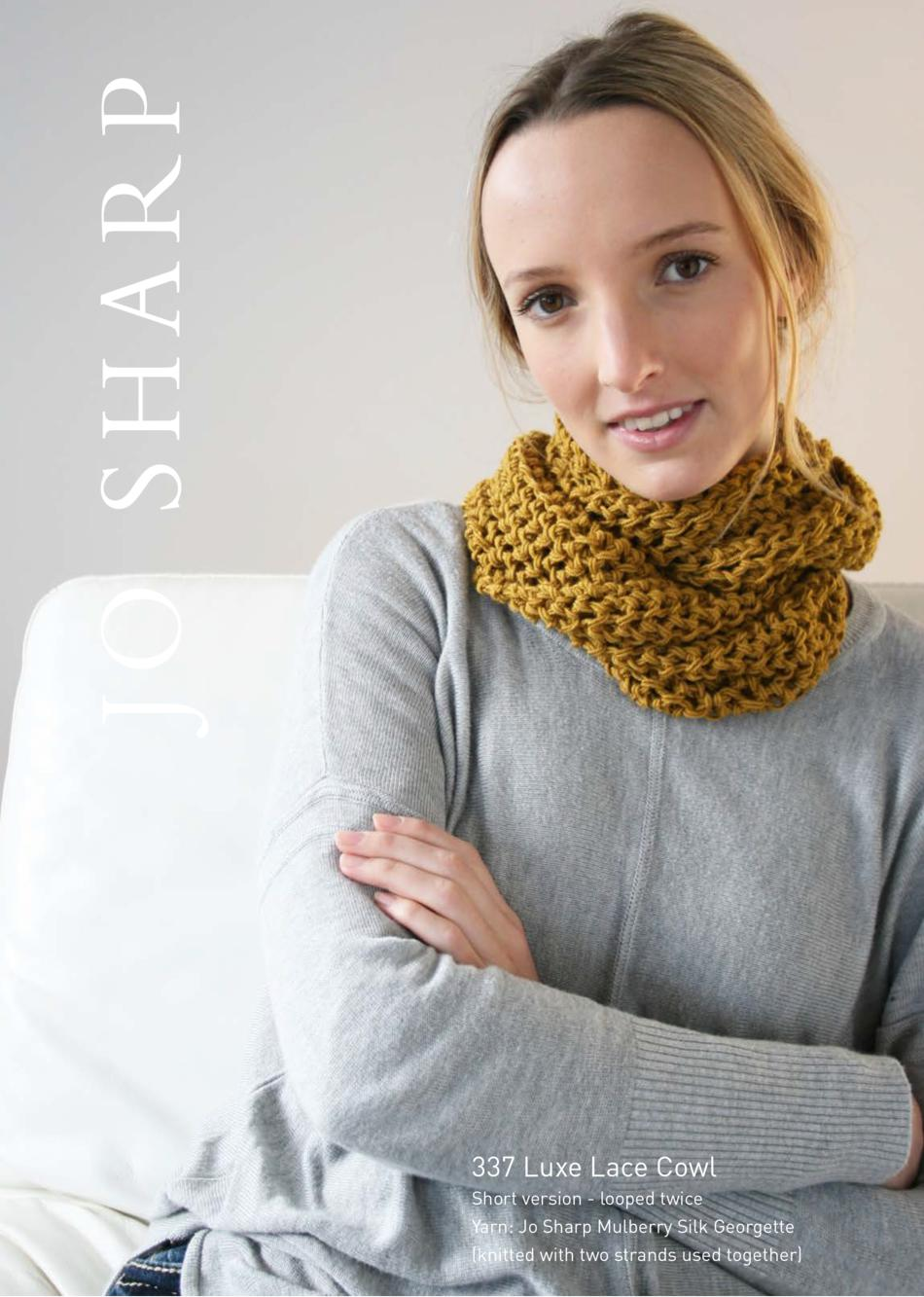 Jo Sharp Luxe Lace Cowl - Pattern, Knitting Pattern - Halcyon Yarn