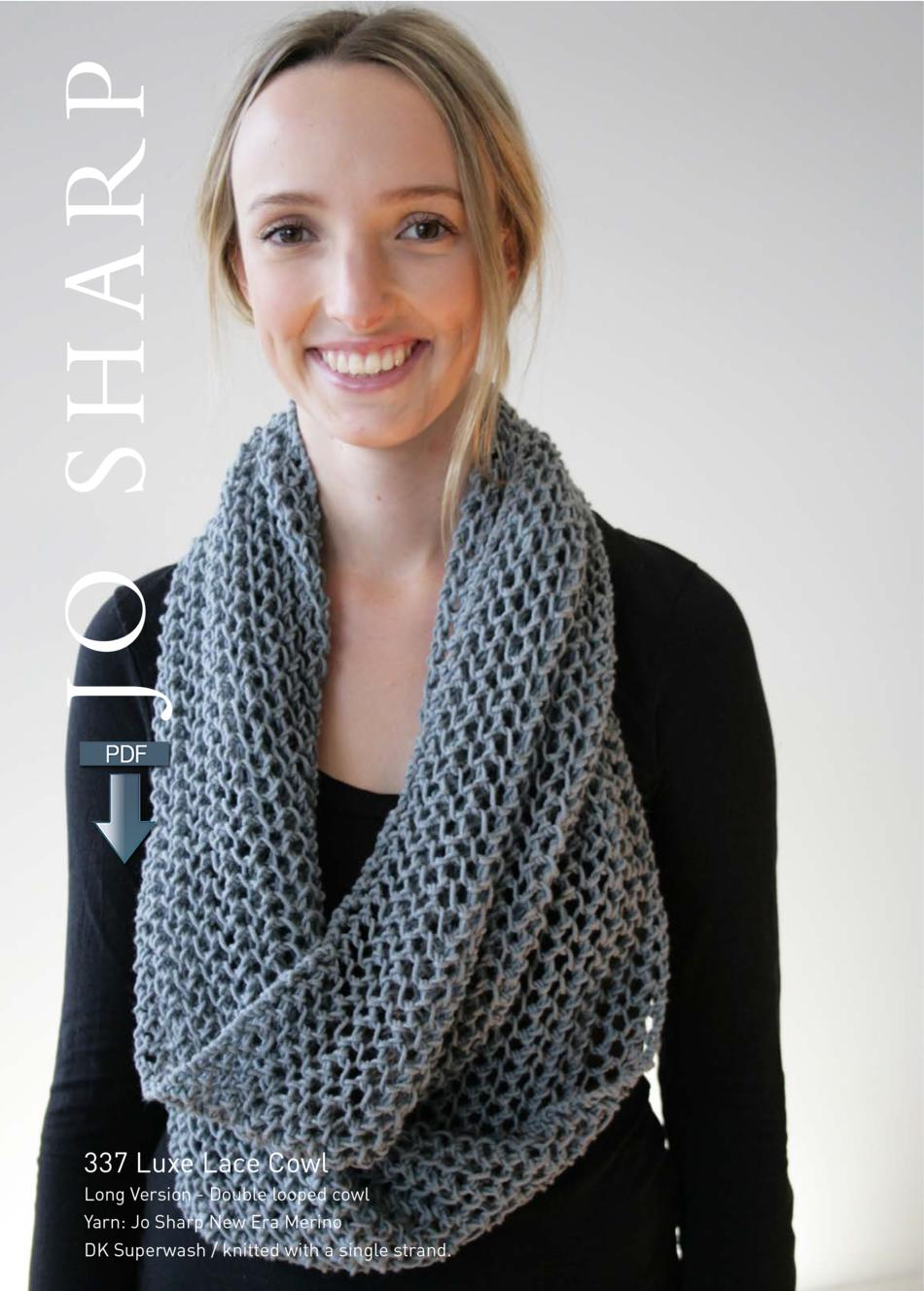 Jo Sharp Luxe Lace Cowl - Pattern Download, Knitting Pattern ...