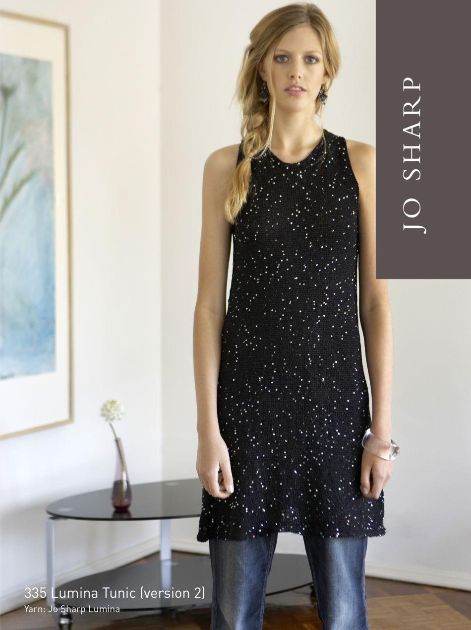 Jo Sharp Lumina Tunic Pattern, Knitting Pattern - Halcyon Yarn