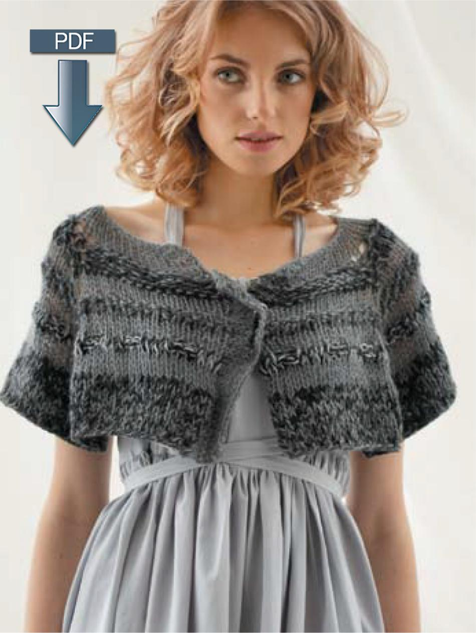 Jo Sharp Loose Textured Cape, Cardigan and Sweater - Pattern ...
