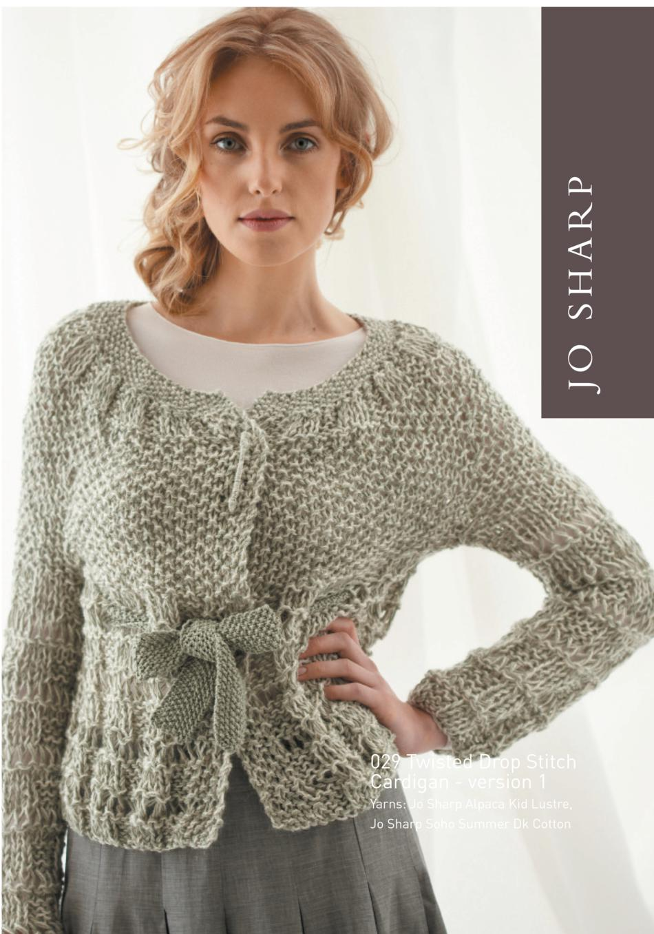 Jo sharp drop stitch vest and cardigan pattern knitting pattern knitting patterns jo sharp drop stitch vest and cardigan pattern bankloansurffo Images