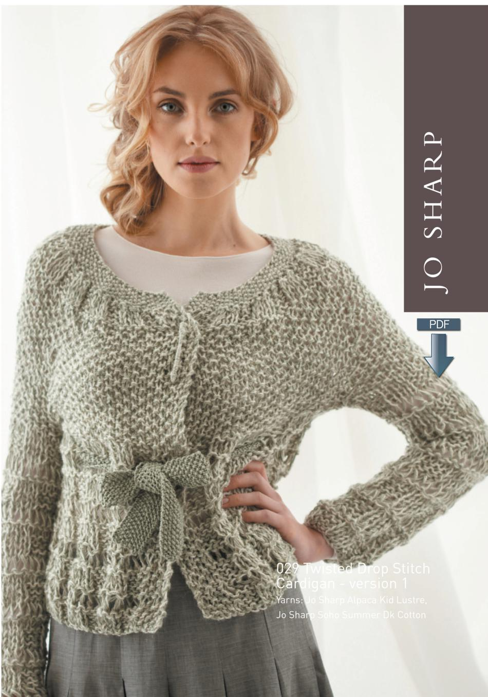 Jo Sharp Drop Stitch Vest and Cardigan - Pattern Download, Knitting ...
